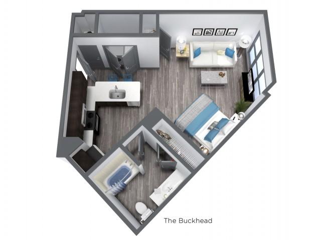 The Buckhead - 600 SQFT