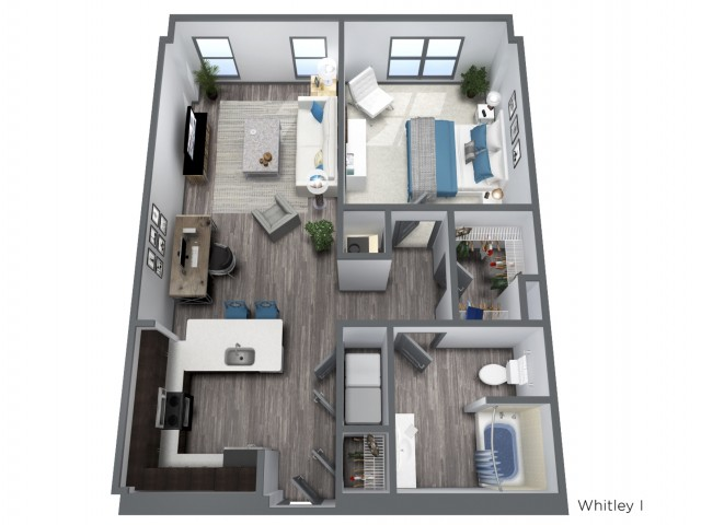 The Whitley I - 858 SQFT