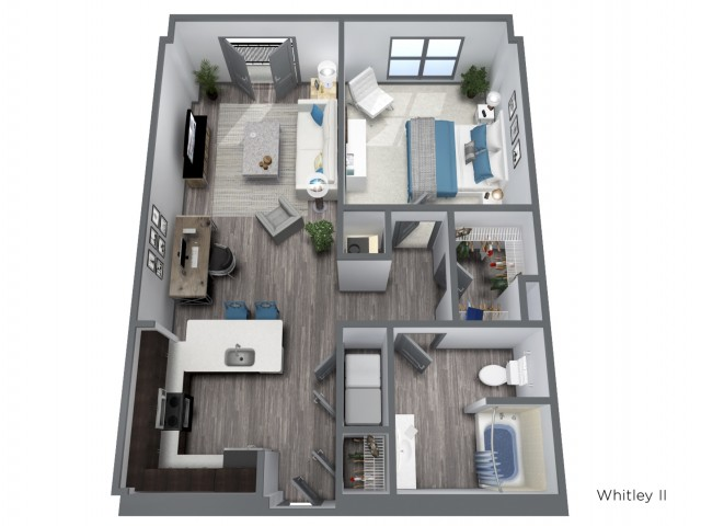 The Whitley II - 858 SQFT