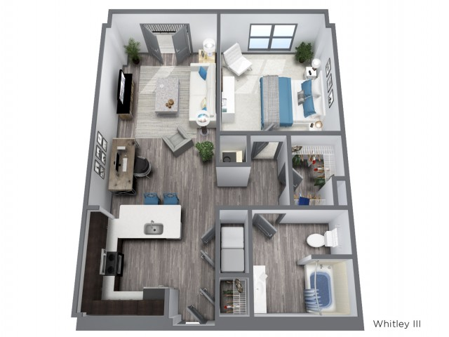 The Whitley III - 858 SQFT