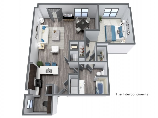 The Intercontinental - 1082 SQFT