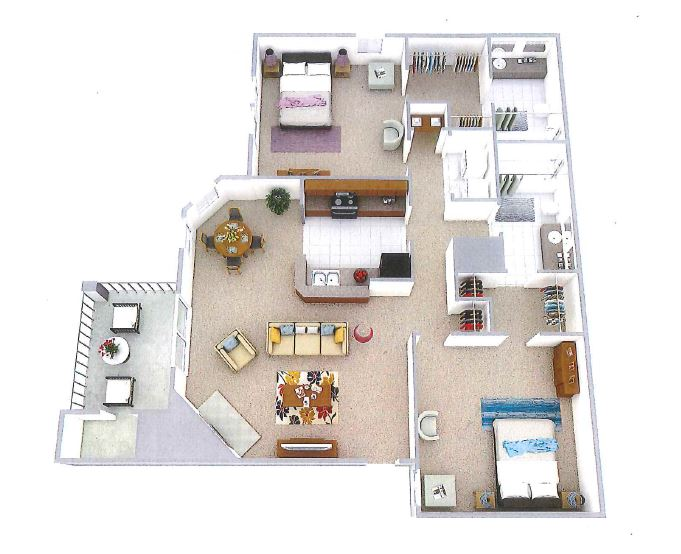 B3 - Two Bedroom, Two Bathroom