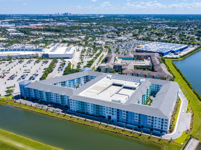 m2 at millenia aerial view