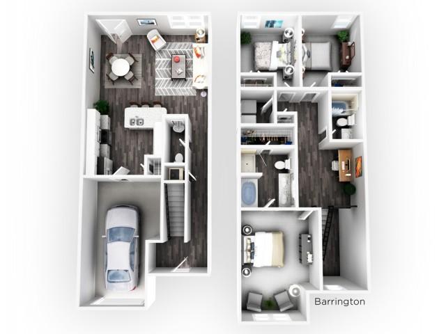 Three Bedroom Apartments in Dawsonville GA