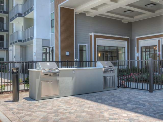 Lofts at South Lake Outdoor Kitchen with 2 Gas Grills