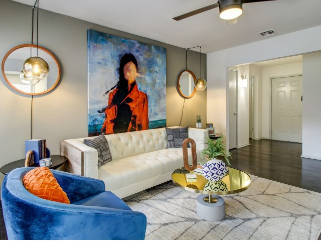 Painted Accent Wall In Living Area*