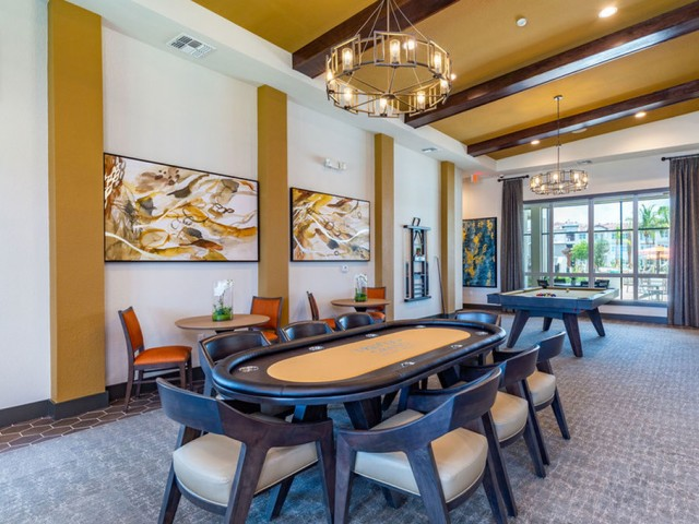 Treviso Grand Apartments - North Venice, Florida  card table and lounge
