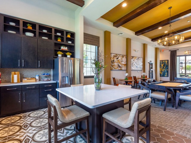 Treviso Grand Apartments - North Venice, Florida  clubhouse kitchen with island