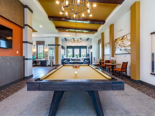 Treviso Grand Apartments - North Venice, Florida  billiards table in clubhouse