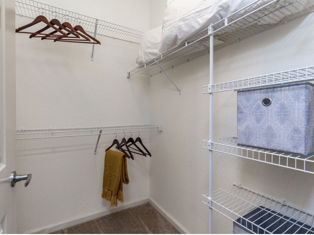 Treviso Grand Apartments - North Venice, Florida walk in closet with wire shelving
