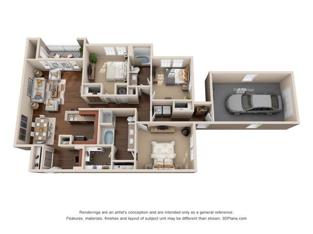 Three Bedroom Two Bath Apartment Duluth GA