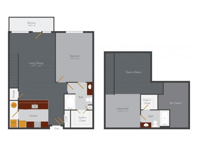 Reynolds A7L - B2L 1 Bed 2 Bath Lofts