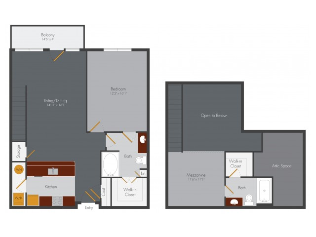 Park B2L 2 Bed 2 Bath Loft 1502 sqft