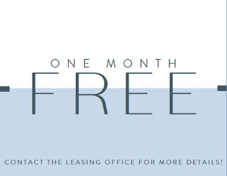 One month free when you move in by August 31st!<br><br>*Select Units Only<br><br>*10-13 Month Lease Term