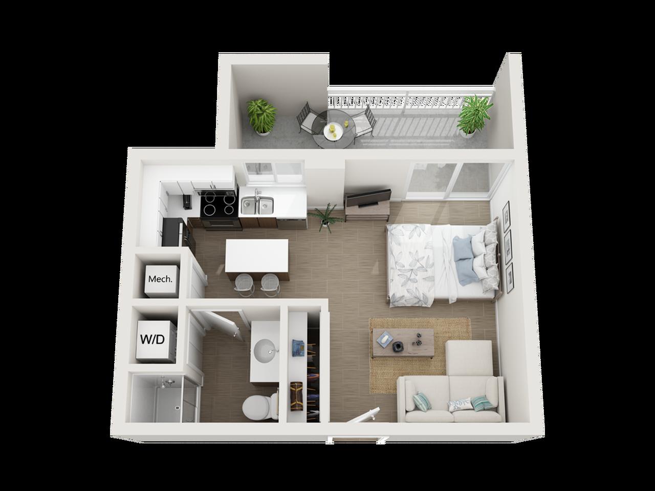 Shala studio 3D floor plan