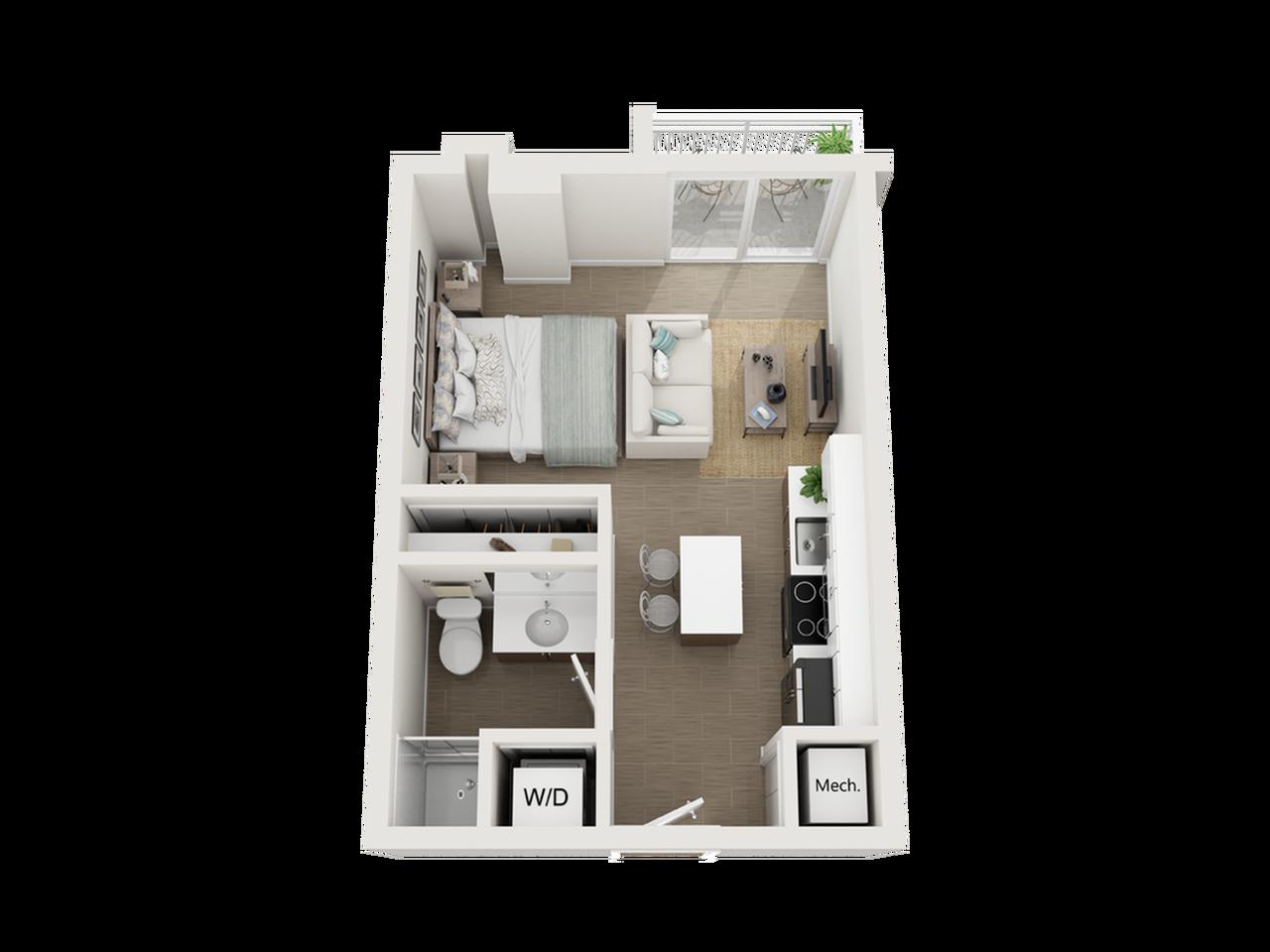Sake studio 3D floor plan