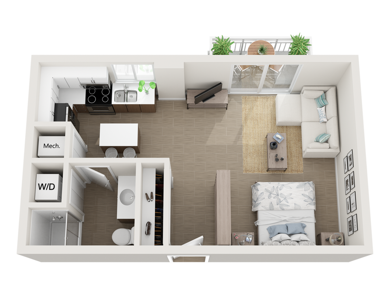 Saroma studio 3D floor plan
