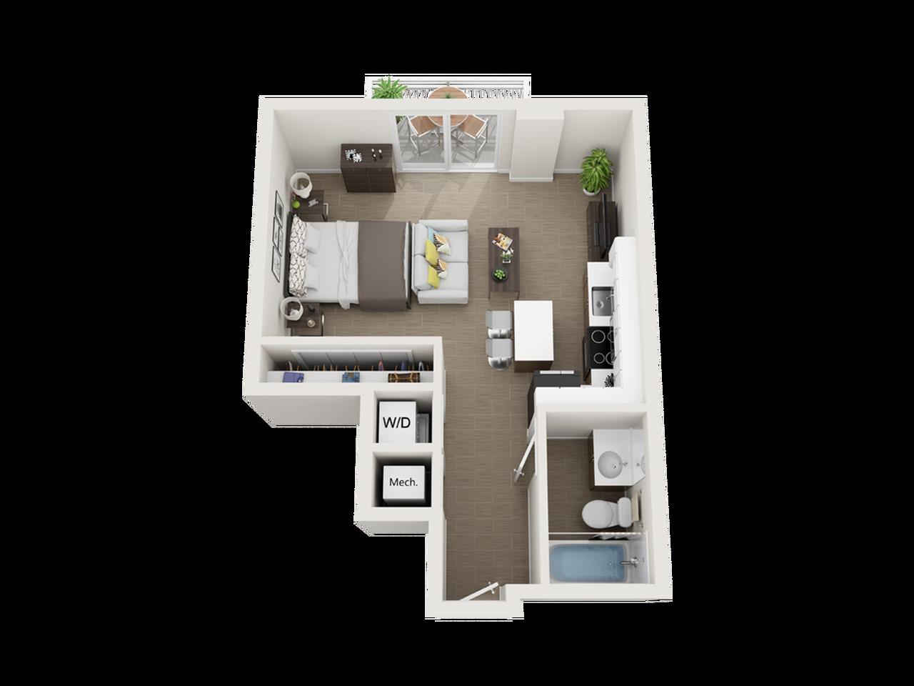 Sagar studio 3D floor plan