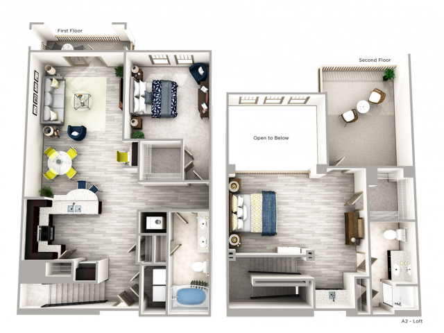 One Bedroom Apartment in Buckhead with Loft