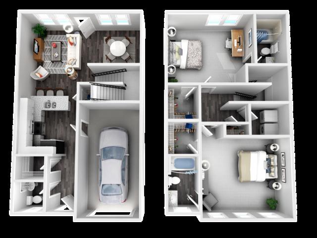 Providence- 2 Bedroom | 2.5 Bathroom