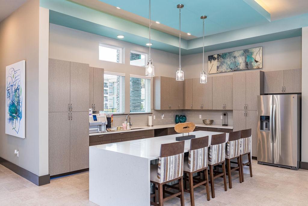 San Mateo Apartments Kissimmee Florida clubhouse kitchen