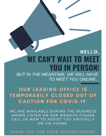 MEET US ONLINE or CALL NOW!  Our office is temporarily closed out of caution for COVID-19. We are available during the following business hours to assist you virtually or via phone.