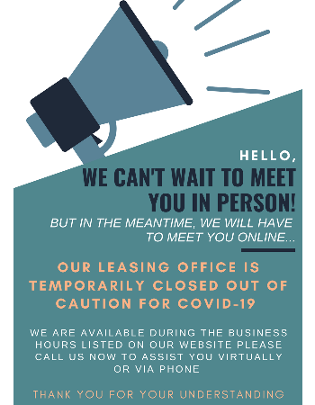 MEET US ONLINE and CALL NOW! Our office is temporarily closed out of caution for COVID-19.  We are available during our posted business hours to assist you virtually or via phone.