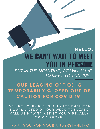 MEET US ONLINE or CALL NOW ! Our office is temporarily closed out of caution for COVID-19. WE ARE available during the business hours listed on our website to assist you virtually or by phone call.