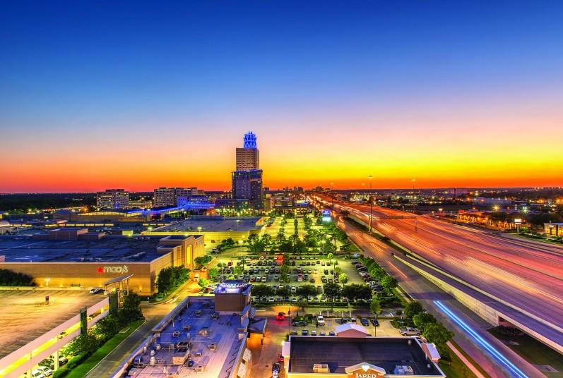 Beautiful sunset at Memorial City Mall