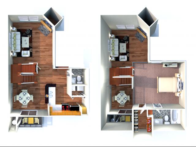 1x1.5 floor plan
