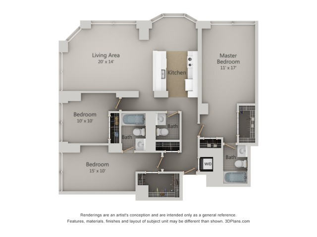 Three Bedroom P   3 Bed Apartment   The Park Evanston
