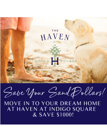 Make Haven at Indigo Square home today & save $1000 Call today for more details!