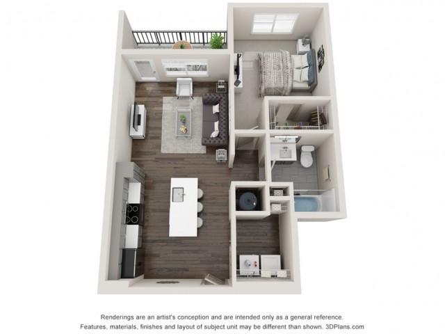 Aurelia - One Bedroom | One Bathroom 731 sq feet