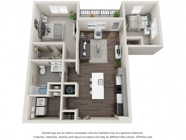 Azure - Two Bedroom | One Bathroom 968 sq feet