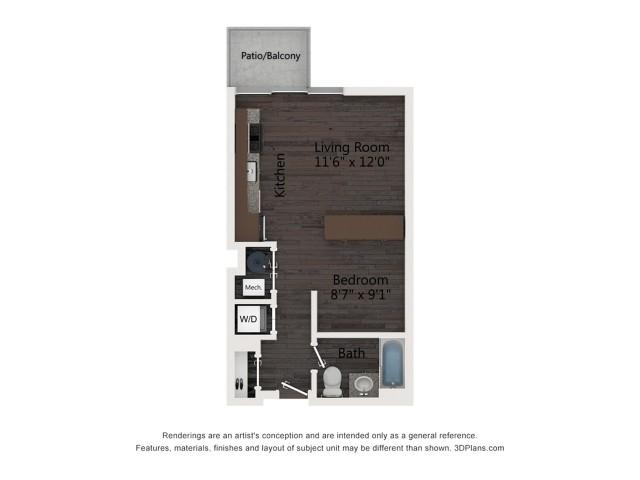 Studio Floor Plan A1a
