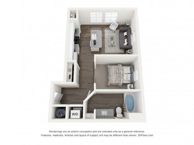 Reserve at Venice | 3D S1 Harper Floor Plan Rendering