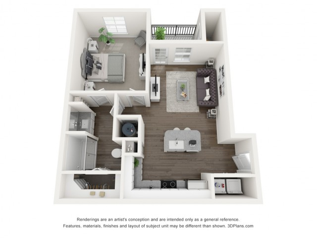 Reserve at Venice | 3D A1 Abigail Floor Plan