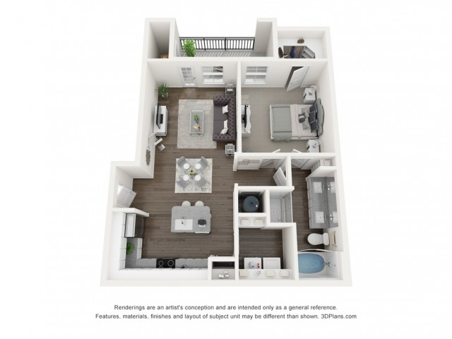 Reserve at Venice | 3D A3 Emma Floor Plan