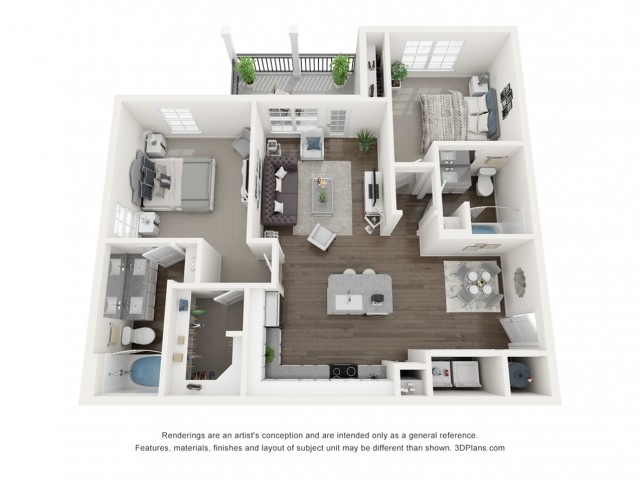 Reserve at Venice | 3D B1 Laurel Floor Plan