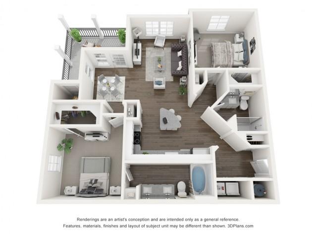 Reserve at Venice | 3D B2 Lillian Floor Plan