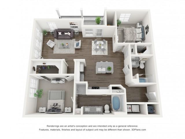 Reserve at Venice | 3D B3 Mia Floor Plan