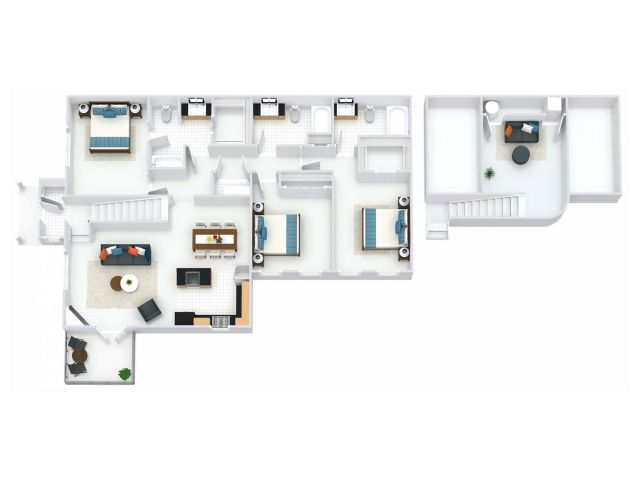 Camnbridge Layout with Loft, select units include balcony