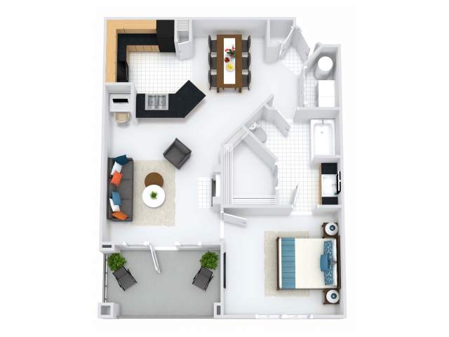 Kensington Layout with Balcony or Solarium