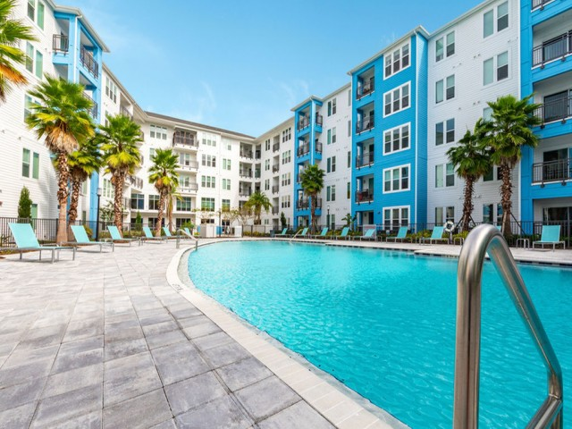 m2 at millenia pool and courtyard view
