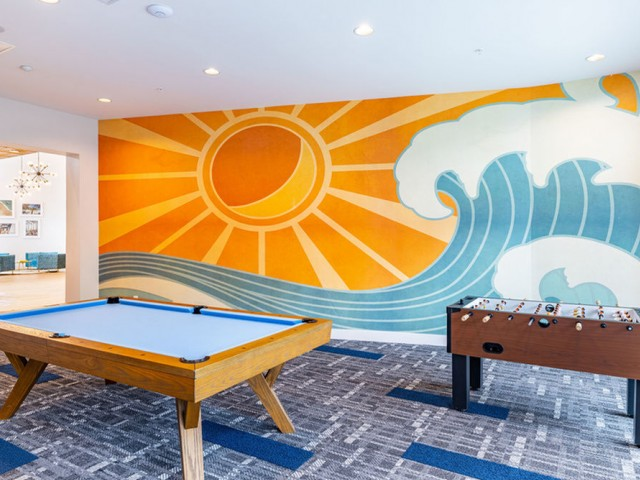 Game Room with Billiards and Foosball