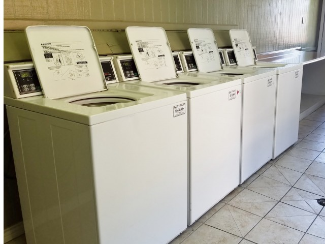 Community Laundry Center with Washers and Dryers
