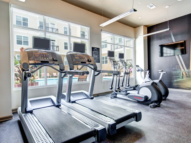 State-of-the-Art Fitness Center Cardio Equipment  | Apartment Homes in Nashville, TN | 909 Flats
