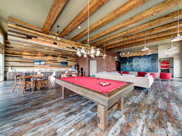Community Game Room with Billiards Table | Apartments for rent in Nashville, TN | 909 Flats
