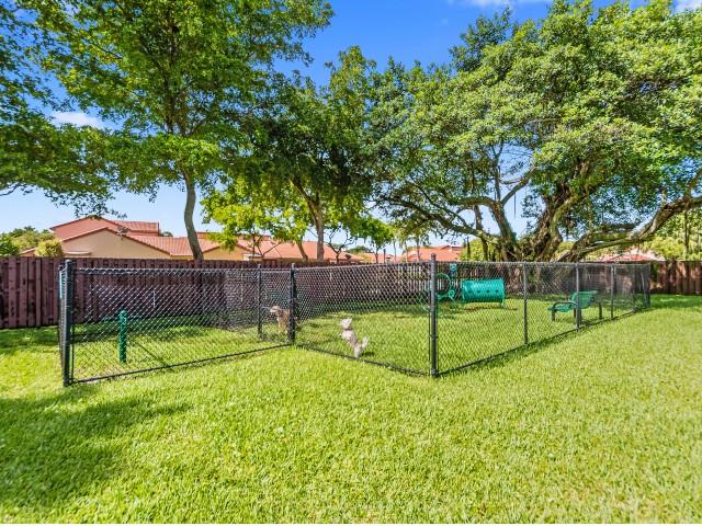 Outdoor, fenced dog park