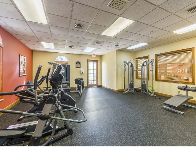 Community fitness center with strength training equipment